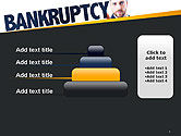 Businessman Pointing the Text Bankruptcy PowerPoint Template#8