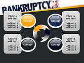 Businessman Pointing the Text Bankruptcy PowerPoint Template#9