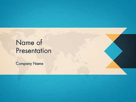 Global: World Map Theme Business PowerPoint Template #14408