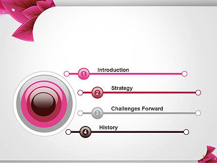 Leaves and Pink Wave Abstract PowerPoint Template, Slide 3, 14410, Holiday/Special Occasion — PoweredTemplate.com