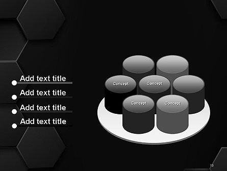 Black Hexagon Background Texture PowerPoint Template Slide 12