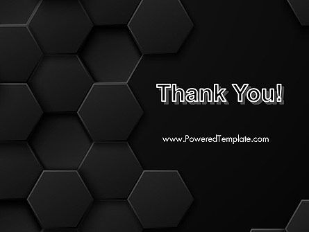 Black Hexagon Background Texture PowerPoint Template Slide 20