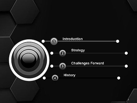 Black Hexagon Background Texture PowerPoint Template, Slide 3, 14414, Abstract/Textures — PoweredTemplate.com