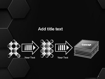 Black Hexagon Background Texture PowerPoint Template Slide 9