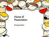 Education & Training: Frame with Funny Kids PowerPoint Template #14415