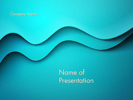 Abstract/Textures: Solid Layered Waves Abstract PowerPoint Template #14416