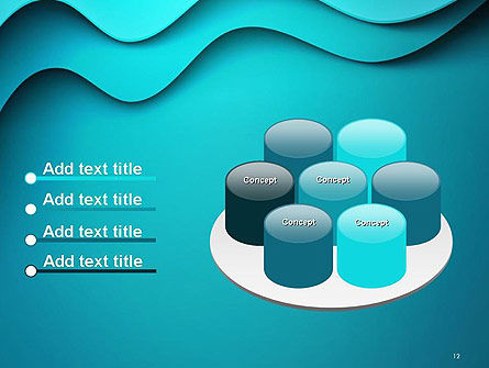 Solid Layered Waves Abstract PowerPoint Template Slide 12