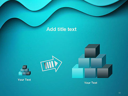Solid Layered Waves Abstract PowerPoint Template Slide 13