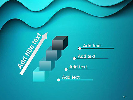 Solid Layered Waves Abstract PowerPoint Template Slide 14