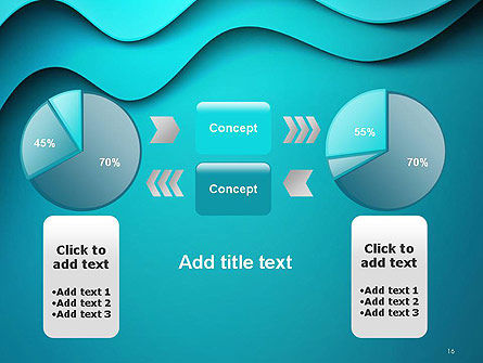 Solid Layered Waves Abstract PowerPoint Template Slide 16