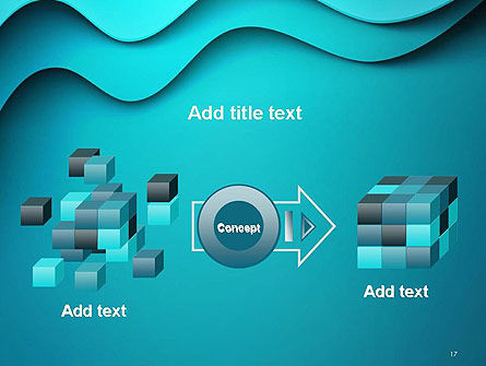 Solid Layered Waves Abstract PowerPoint Template Slide 17