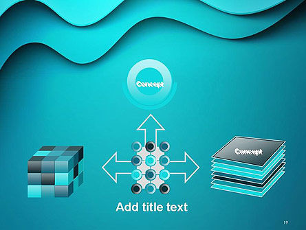 Solid Layered Waves Abstract PowerPoint Template Slide 19
