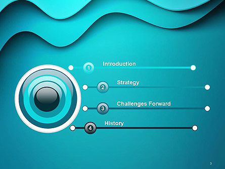 Solid Layered Waves Abstract PowerPoint Template Slide 3