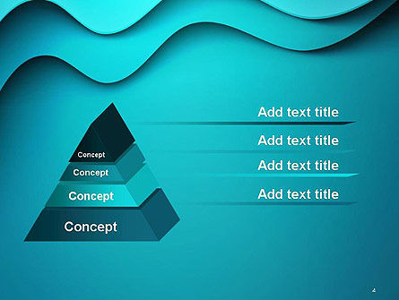 Solid Layered Waves Abstract PowerPoint Template Slide 4