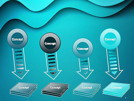 Solid Layered Waves Abstract PowerPoint Template Slide 8