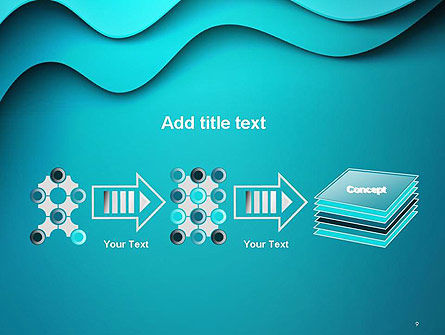 Solid Layered Waves Abstract PowerPoint Template Slide 9