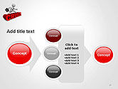3D Businessman Jumping Over Crisis Word PowerPoint Template#17