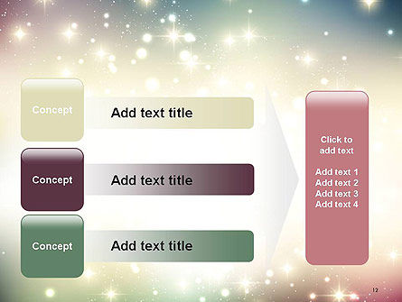 Abstract Glitter Background PowerPoint Template Slide 12