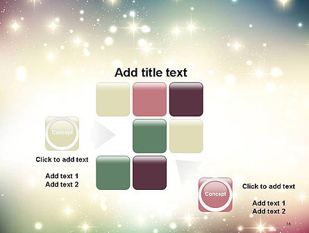 Abstract Glitter Background PowerPoint Template Slide 16