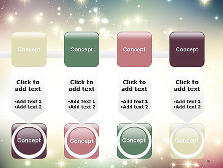 Abstract Glitter Background PowerPoint Template Slide 18