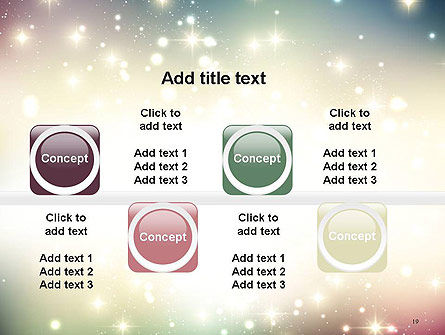 Abstract Glitter Background PowerPoint Template Slide 19