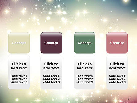 Abstract Glitter Background PowerPoint Template Slide 5