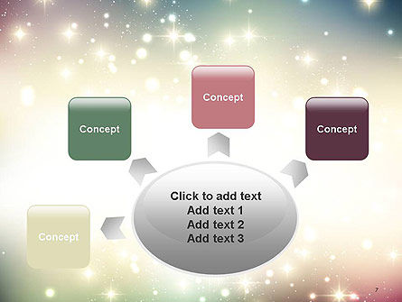 Abstract Glitter Background PowerPoint Template Slide 7