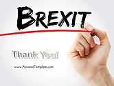 Hand Writing Brexit with Marker PowerPoint Template#20