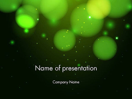 Green Magic Light Abstract PowerPoint Template, 14420, Abstract/Textures — PoweredTemplate.com