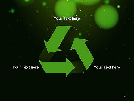 Green Magic Light Abstract PowerPoint Template Slide 10