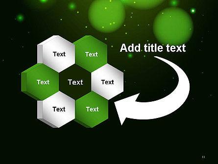 Green Magic Light Abstract PowerPoint Template Slide 11