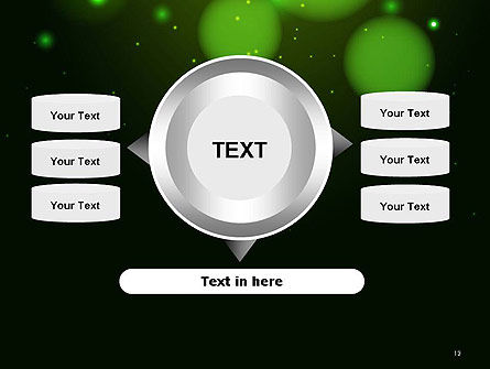 Green Magic Light Abstract PowerPoint Template Slide 12