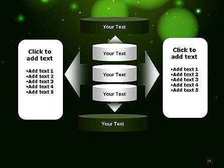 Green Magic Light Abstract PowerPoint Template Slide 13