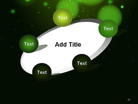 Green Magic Light Abstract PowerPoint Template Slide 14