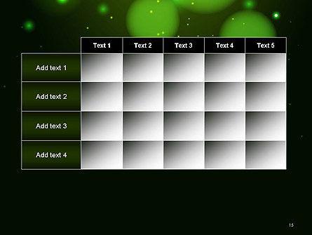 Green Magic Light Abstract PowerPoint Template Slide 15