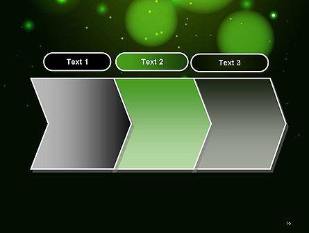 Green Magic Light Abstract PowerPoint Template Slide 16