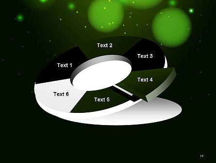 Green Magic Light Abstract PowerPoint Template Slide 19