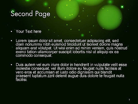 Green Magic Light Abstract PowerPoint Template, Slide 2, 14420, Abstract/Textures — PoweredTemplate.com