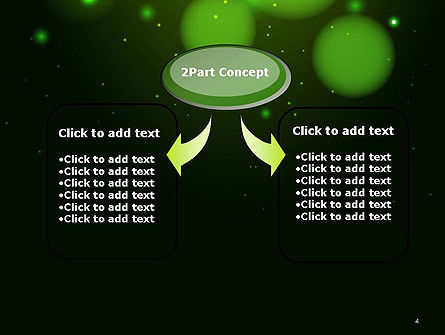 Green Magic Light Abstract PowerPoint Template, Slide 4, 14420, Abstract/Textures — PoweredTemplate.com