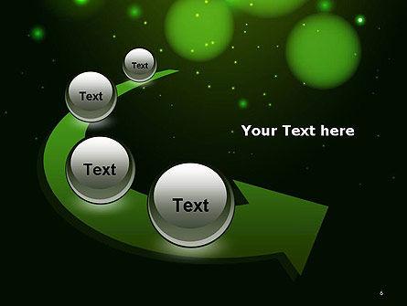 Green Magic Light Abstract PowerPoint Template Slide 6