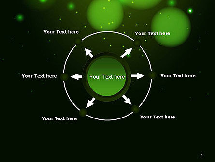 Green Magic Light Abstract PowerPoint Template Slide 7