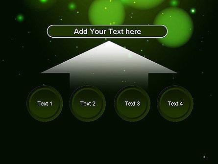 Green Magic Light Abstract PowerPoint Template Slide 8