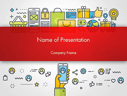 Careers/Industry: M-Commerce PowerPoint Template #14421