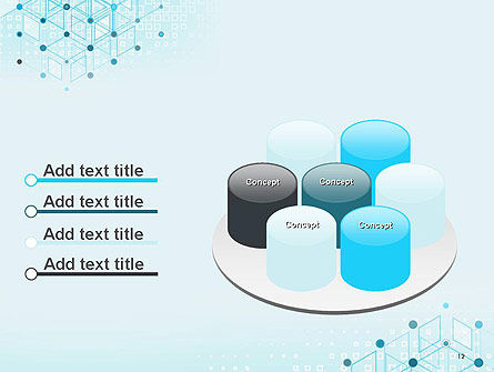 Data and Communication Abstract Background PowerPoint Template Slide 12