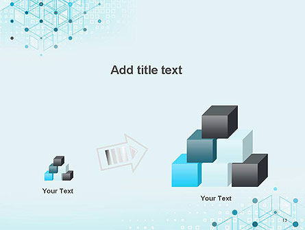 Data and Communication Abstract Background PowerPoint Template Slide 13