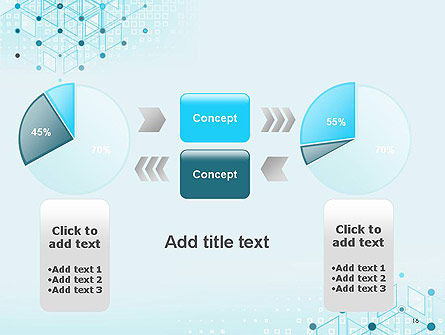 Data and Communication Abstract Background PowerPoint Template Slide 16