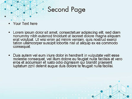 Data and Communication Abstract Background PowerPoint Template Slide 2