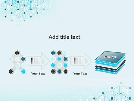 Data and Communication Abstract Background PowerPoint Template Slide 9