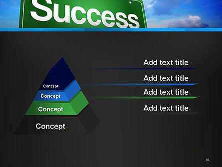 Success Green Waymark PowerPoint Template Slide 10
