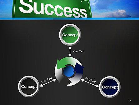 Success Green Waymark PowerPoint Template Slide 12